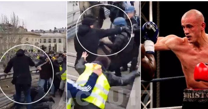 Crise des gilets jaunes : qui est le boxeur qui a tabassé un gendarme samedi ?