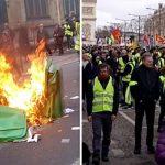 SHOCKING photos show anti-Macron 'Gilet Jaune' RIOTING in Paris - Police and shops HIT
