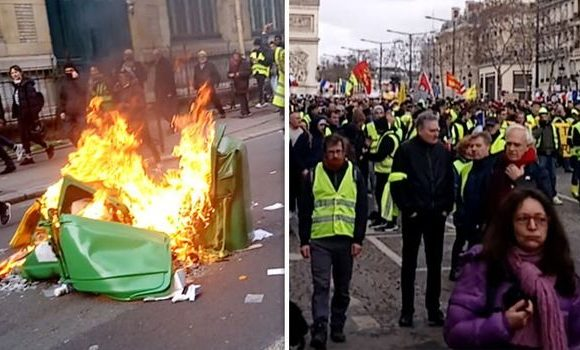 SHOCKING photos show anti-Macron 'Gilet Jaune' RIOTING in Paris – Police and shops HIT