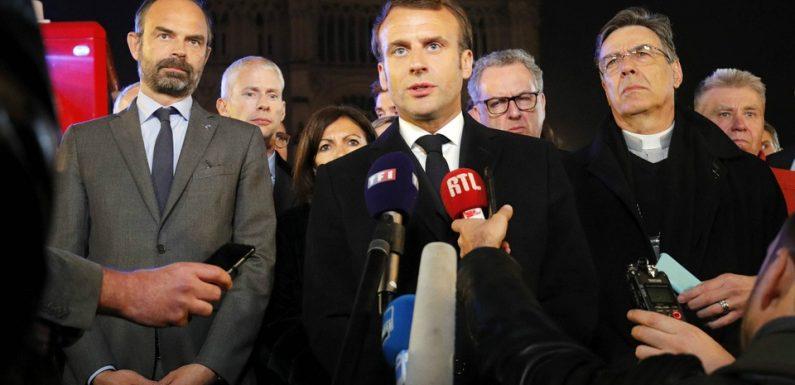 VIDEO. Incendie à Notre-Dame de Paris: «Nous la rebâtirons», assure Macron, qui annonce une souscription nationale