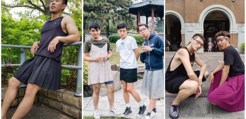 À Taïwan, des hommes défilent en jupes pour défendre le mariage homosexuel
