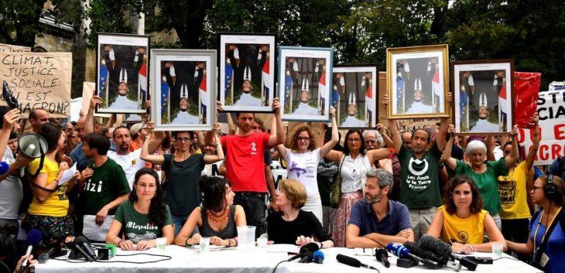 G7 à Biarritz : Des portraits «décrochés» de Macron sillonnent Bayonne