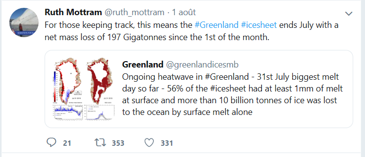 La glace du Groenland fond… le sérieux journalistique aussi