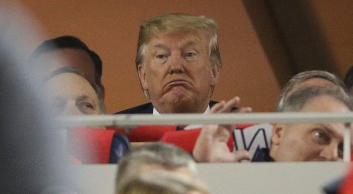 Donald Trump booed and greeted with 'lock him up' chants at World Series