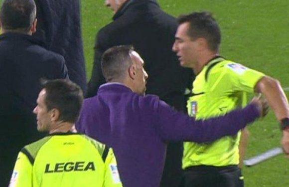 Franck Ribéry écope de trois matches de suspension après avoir bousculé un arbitre (vidéo)