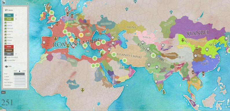 Chronas. Carte interactive de toute l'histoire mondiale