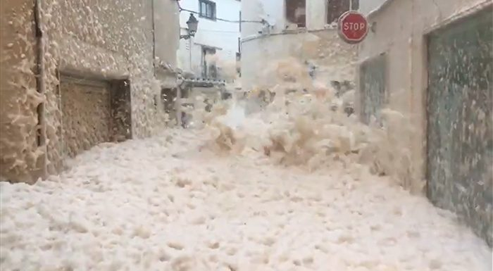 As Storm Gloria Continues Ravaging Spain, Mallorca Gets Hit By Huge Waves And Another Town Is Filled With Foam