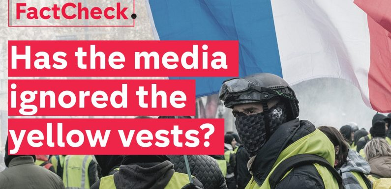 Is the mainstream media ignoring the yellow vest protests?