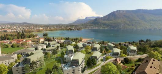 Un futur quartier d'Annecy chauffé grâce à l'eau du lac
