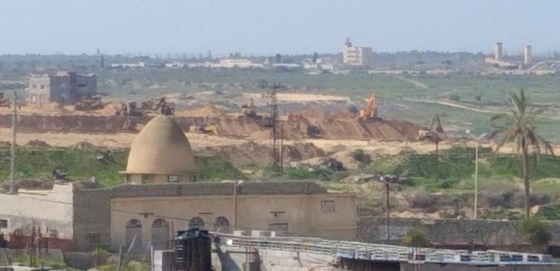 L'Égypte construit un nouveau mur le long de la frontière avec Gaza